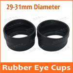 33-39mm Diameter Biological Stereo Microscope Telescope Monocular Binoculars Eyepiece Lens Use Rubber Eye Guards Eye Shield Cups