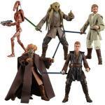 6inch Hasbro Star wars Plo Koon Kit Fisto Obi-Wan Anakin Skywalker action figures model toys for children with box