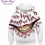 Autumn Winter Children's Hoodies Joker Mouth 3D Printed Tops Kids Junior Child Loose Coat 5-14y Teens Boy&Girl's Hooded Sweaters