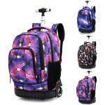 Children Trolley School Backpacks Girls Boys 18 inch Wheeled Backpack Kids On Wheels Bags For Teenagers School Rolling Bags Boys