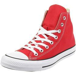 Converse Unisex-Adult Chuck Taylor All Star Hi Trainers - Red - 53 EU