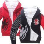 Disney Anime Spider-Man winter thick fleece jackets Cotton Warm Jacket Animation Peripheral Kids Clothing