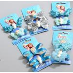 Disney Elsa Anna Princess Children Hair Pin Cute Bowknot Girls Clips Ornament New Fashion Lace Headwrap For Baby Birthday Gifts