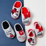 Disney Mickey Minnie Cotton Home Slippers Indoor Boys and Girls Warmth Non-Slip Soft Shoes Animation Peripheral Christmas Gifts