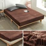 Flannel Bed Sheet Velvet Bed Linen With Elastic Winter Warm Fleece Fitted Sheet Single Queen King Mattress Protecter Sheets