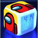 Hot Game Among Us Alarm Clock Kids Anime Cartoon Print Colorful Touch Clock Bedroom Decoration Watch for Kids Christmas Gifts