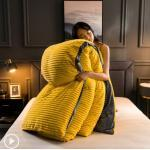 JUSTCHIC Thick Warm Winter Quilt for Beds AB Version Double-sided Velvet Duvet Cover Pillowcase Flannel Bedding Queen Size