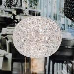 Läpinäkyvä LED-design-riippuvalo Planet