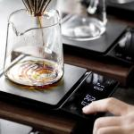 LCD digital electronic coffee scale with timer 3kg 0.1g black kitchen roasted coffee precision weight electronic scale