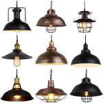 Loft Vintage Pendant Light Nordic Retro Iron Lights Industrial Hanging Lamp Lighting Fixture For Cafe Bar Home Decor Lampshade