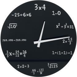 Matematiikka-seinäkello - Unisex-Seinäkello - Musta