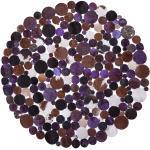 Matto pyöreä 140 cm ruskea/violetti SORGUN