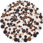 Matto pyöreä ruskea 140 cm SORGUN