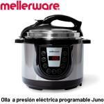 MELLERWARE-stainless steel electric pressure cooker Juno. 6 menus. Programmable. Timer. 5L capacity. Stick.
