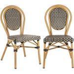 Montpellier BL tuoli pinottava alumiinirunko musta/kermanvärinen