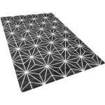 Musta matto hopeisella kuviolla 140x200 cm SIBEL