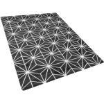 Musta matto hopeisella kuviolla 160x230 cm SIBEL