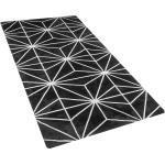 Musta matto hopeisella kuviolla 80x150 cm SIBEL
