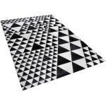 Mustavalkoinen nahkamatto 140x200 cm ODEMIS