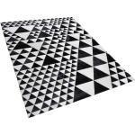 Mustavalkoinen nahkamatto 160x230 cm ODEMIS