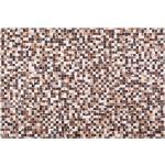 Nahkainen tilkkumatto 160x230 cm ruskeasävyinen KONYA