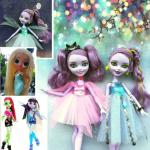 originol monsters high school clothes pants skirt without Head DIY Doll Draculaura girl Doll House Children Gifts