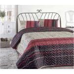 Päiväpeite Eponj Home Yhden 160x220+ tyynyliina Tikattu - Viininpunainen/Beige/Punainen