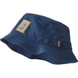 Patagonia Wavefarer Bucket Hat - Whale Tail Tubes: Stone Blue - Unisex - S