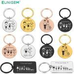 Personalized Family Keychain Engraved Family Gifts for Parents Children Present Keyring Bag Charm Families Member Gift Key Chain