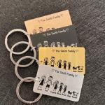 Personalized Family Love Keyring Cute Keychain Customized Name Gifts for Parent Children Bag Charm Families Member Gift