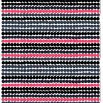 Räsymatto kangas musta-harmaa-pinkki