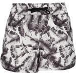 Soc J Summer Beach Shorts Uimashortsit Black Leaf Print BLACK LEAF PRINT