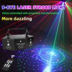 Sound Activated Disco Party Lights RGB LED Stage Lights for Home Party KTV Products Practical Decoration Laser Light US UK EU AU
