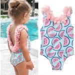 Summer Flower Watermelon Toddler Kids Baby Girl Bikini Swimsuit Backless Swimwear Girls Tankini Beach Suit 6M-4T