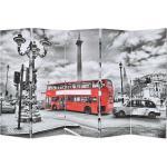 Taitettava tilanjakaja Lontoon bussi 200x170cmvalkoinen - Monivärinen