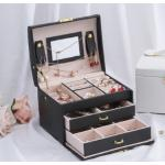 Universal Jewelry Organizer Storage Box Travel Jewelry Case Boxes Portable Makeup Watches Rings Womens Leather Jewelry Box
