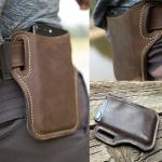 Upgrade New Men Leather Vintage Pack Waist Bag Belt Clip Phone Holster Travel Hiking Cell Mobile Phone Case Belt Pouch Purse