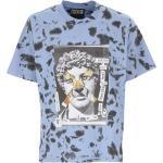 Versace Jeans Couture T-Shirt for Men, Light Blue, Cotton, 2021, M S
