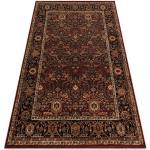 Wool carpet KASHQAI 4348 300 frame, oriental claret 67x130 cm