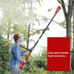 YT-4389 Electric High Branch Saw Rechargeable 40V/4AH Lithium Battery Hedge Trimmer Garden Chain Saw Pruning Shear 5500RPM 220V